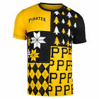 FOCO MLB Men's Pittsburgh Pirates Busy Block Ugly Crew Neck Tee on Ebay