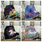 Sherpa Unicorn Blanket Rug For Couch Sofa Bed Throw Soft Tapestry Hot Sale image