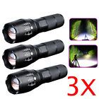 3 x Ultrafire Tactical 18650 Flashlight T6 High Powered 5Modes Zoomable Aluminum