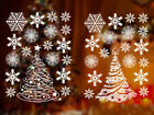 Reusable Christmas Window Clings Stickers 36 Snowflake 2 Trees Vinyl Decal Decor
