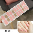 22tips/sheet Nail Sticker Full Cover Nial Wraps Self Adhesive Stickers Transfer $1.1 USD on eBay