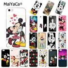 Beauty Beast Bishoujo phone case Mickey Minnie Mouse kiss case for Apple iPhone