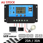 PWM 30A Dual USB Solar Panel Battery Regulator Charge Controller 12V 24V IN