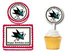 San Jose Sharks Edible Birthday Party Decoration Cake Topper Cupcake Picks $19.0 USD on eBay
