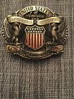 CONSTITUTION COMMEMORATIVE BELT BUCKLE  brass limited edition Made In USA