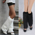 WINTER FAUX FUR LEG WARMERS RAVE FLUFFIES LADY BOOT COVER CHRISTMAS CHARM Wonder