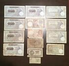 Serbia lot of 14 banknotes 1926-1944 - demaged