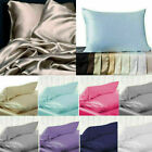 100% Pure Mulberry Silk Pillowcase Candy Color Pillow Case Home Accessories image