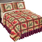 Reversible Fall Foliage & Birds Patchwork Quilt - add individual sizes after image