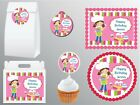 Baking Cooking Girl Birthday Party Decoration Cake Topper Favor Bag Sticker Tag