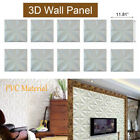 12-60 Pcs 3d Wall Panel Diy Home Room Decor Background Decal Leaves Design