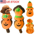 Pet Dog Cat Halloween Pumpkin Holiday Clothes Puppy Costume Party Cosplay Warm