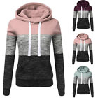 Ladies Casual Hoodies Sweatshirt Patchwork Hooded Pullover Clothing Sweats GIFT
