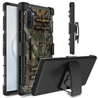 For Samsung Galaxy Note 10+ Plus Shockproof Case Cover With Kickstand Belt Clip