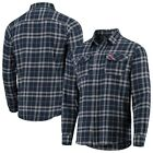 Antigua Cleveland Indians Navy/Gray Flannel Button-Down Shirt on Ebay