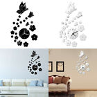Mirror Wall Stickers 3d Clock Butterfly Pattern Ca005 Living Room Decoration D5