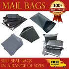 Grey Mailing Bags Strong Poly Postal Postage Self Seal All Sizes Wholesale UK