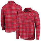 Antigua Los Angeles Angels Red/Gray Flannel Button-Up Shirt on Ebay