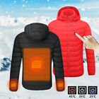 US Men's Vest Heated Jacket Heating Coat USB Heater Hunting Winter Thermal...