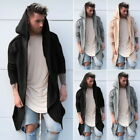 Mens Casual Cardigan Hooded Long Cloak Cape Coat Cosplay Loose Fashion Jacket