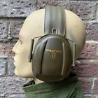 BRITISH ARMY SURPLUS ISSUE GREEN PELTOR PROTECTIVE EAR DEFENDERS,SHOOTING,PPE