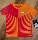 NWT NIKE BOYS ORANGE & RED DRI FIT TEE SIZE 3T EXCELLENT COND LD7