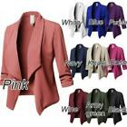 Women Solid jacket Cardigan Coat Long Sleeve women jacket and jackets Ruched