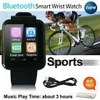 Bluetooth Smart Watch Wrist Phone Mate For Android iOS iPhone Samsung HTC UK