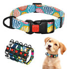 Fashion Floral Dog Collars Nylon Collar for Small Large Dogs Lockable Adjustable