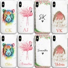 Personalised Phone Case, Flamingo Hard Cover For Sony Xperia, Custom Initials
