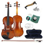 The Beginner Matte Antique Maple Acoustic Students Violin US Shipping