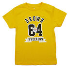 NFL Kids / Youth Pittsburgh Steelers Antonio Brown #84 Short Sleeve T-Shirt $12.99 USD on eBay