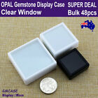 Opal Box Gemstone Case Coin Display | 48pcs | Clear Window | Reliable Aus Stock