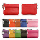 Women Men Simple Leather Mini Coin Change Purse Wallet Clutch Holder Bag Gift