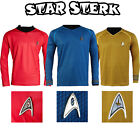 Star Trek Into Darkness Cosplay Costume Captain Kirk Spock Uniform T-Shirt Badge on eBay