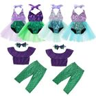 Baby Girls Mermaid Swimwear Swimsuit Shiny Scale Halter Sequined Bathing Suit
