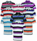 Adidas Golf Men's TaylorMade Puremotion Merch Stripe Short Sleeve Polo Shirt