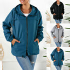 Women's Lightweight Hooded Waterproof Raincoat Windbreaker Outdoor Rain Jacket