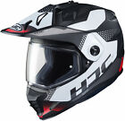 HJC Adult Red/White/Grey DS-X1 Tactic Full Face Dual Sport Helmet