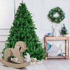 4/5/6/7ft PVC Christmas Tree Xmas W/Stand Holiday Party Indoor Outdoor Decor US