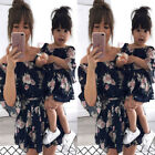 US Family Dress Mother and Daughter Matching Girls Floral Outfits Dresses