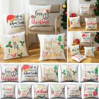 Christmas Printed Pillow Case Cushion Covers For Home Office Sofa Bed Home Decor