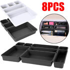 8x Storage Organizer Box Drawer Make Up Brush Holder Storage Pot Jewellery Cover