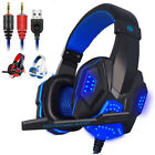 3.5mm Gaming Headset Mic LED Headphones Stereo Surround for PS3 PS4 Xbox ONE X S