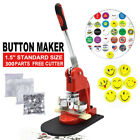 Badge Button Maker Punch Press Machine w/ Circle Cutter Making Christmas Gifts