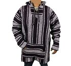 3XL Baja Hoodie Hippie Surfer Mexican Poncho Sweater Drug Rug Assorted Colors