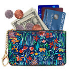 RFID Blocking Zip Keychain Pouch Coin Purse Carry Case Credit Card Holder Wallet image