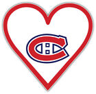 "Montreal Canadiens Heart NHL Sport Car Bumper Sticker Decal ""SIZES"" $3.75 USD on eBay"