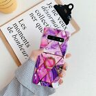 Plating Glossy Marble Pattern Stand Case Cover for Samsung Galaxy S10+/S9/S8/A70