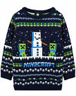 Minecraft Creeper Snow Day Knitted Long Sleeve Christmas Jumper